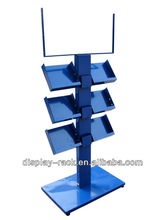 Fashion metal portable book display stands HSX-438