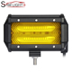 72W 5 Inch 6D Flood Spot Light Car Led Light Bar White/Yellow Led work lights for Jeep Pickup Trucks ATV SUV Jeep