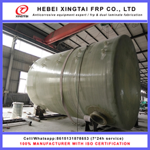 FRP GRP fiberglass sulfuric acid H2SO4 storage tank or vessel