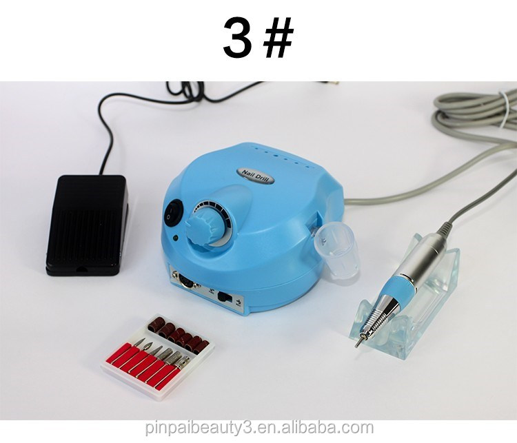 PinPai brand selling 7 colors beautiful high quality nail art supplies tools electric machine nail drill