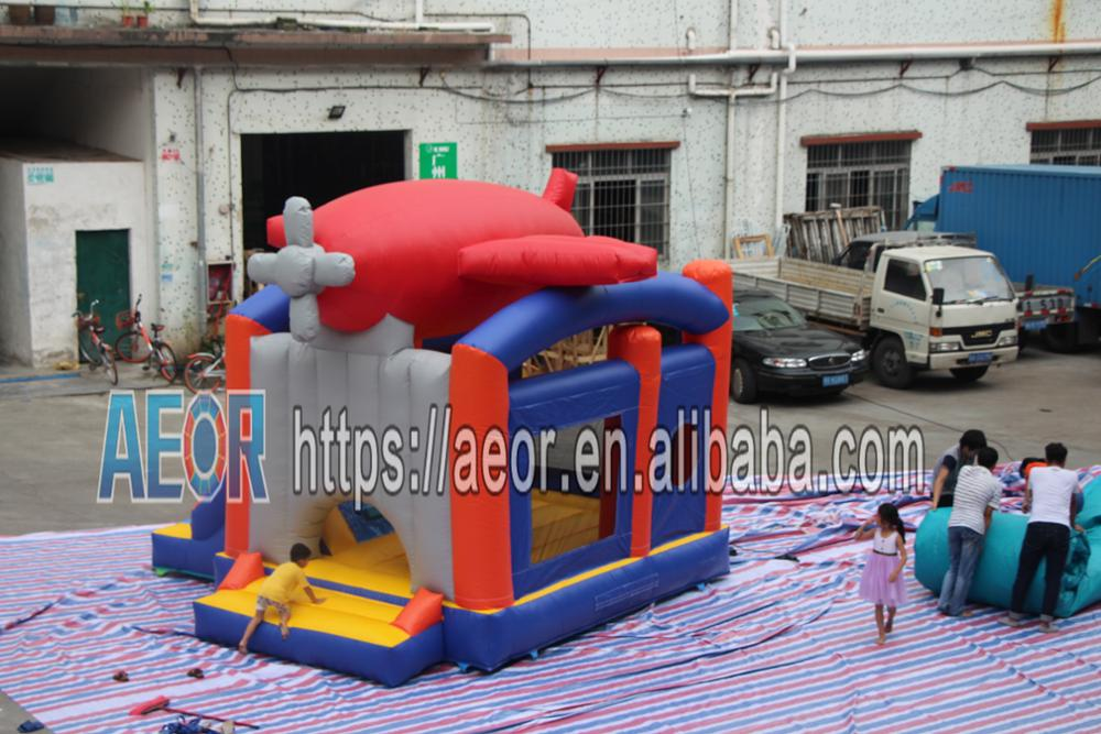 Inflatable bouncer plane /plane shape inflatable bouncer/customized plane bouncer house for sale