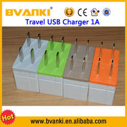 charging for phone 2016 High Quality Factory Sale 5V 1A single USB Charger