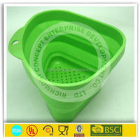 best-selling collapsible cheap price silicone pot colander/strainer 2015