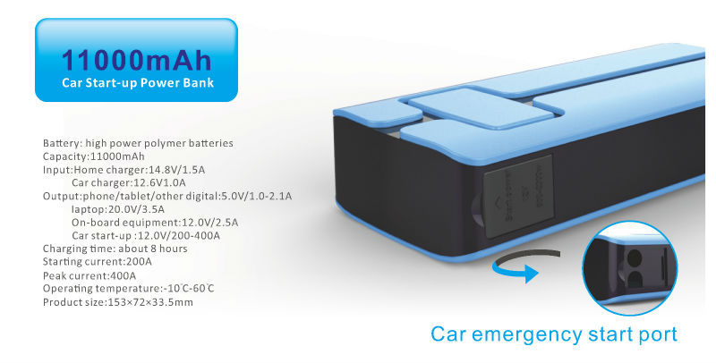 car starter power bank 11000mAh