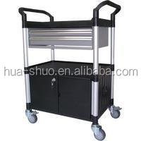 Mobile tool cabinet and car repair tool trolley with 72 tool cabinet