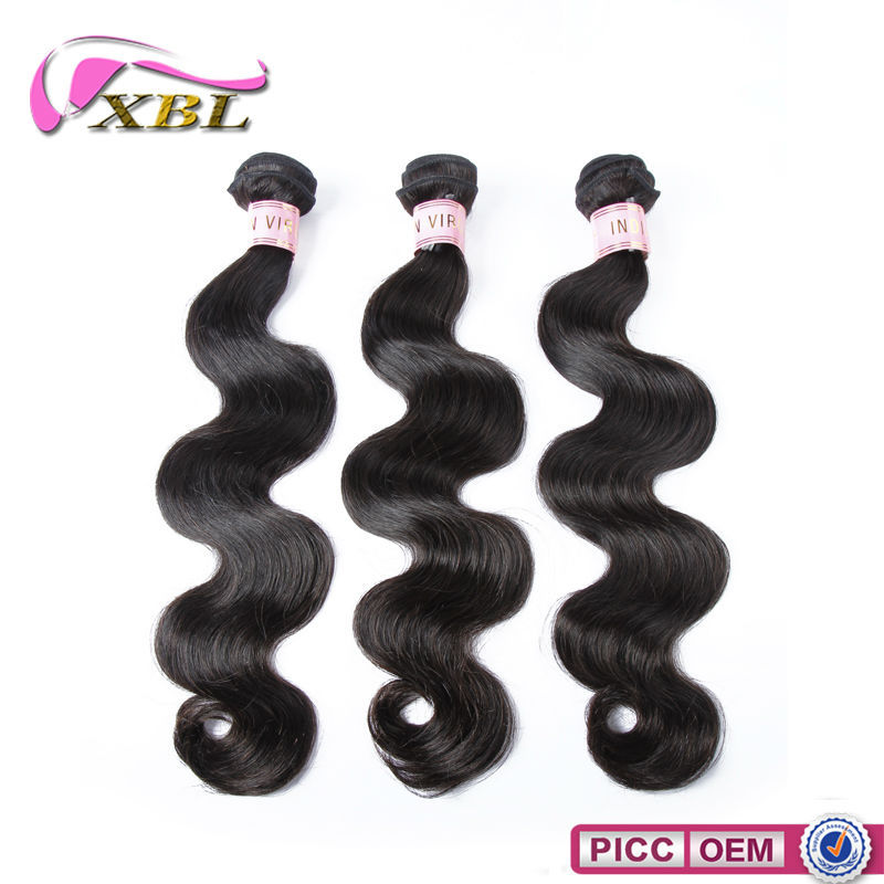 2015 XBL New Arrival Indian Body Wave Guangzhou Xibolai Hair Products Firm