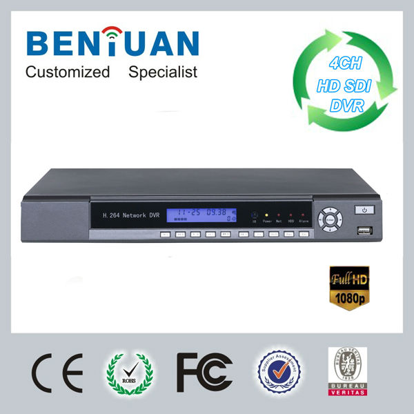 Full 1080P H.264 HD SDI DVR 4CH Real-time Security CCTV Camera Surveillance System Equipment