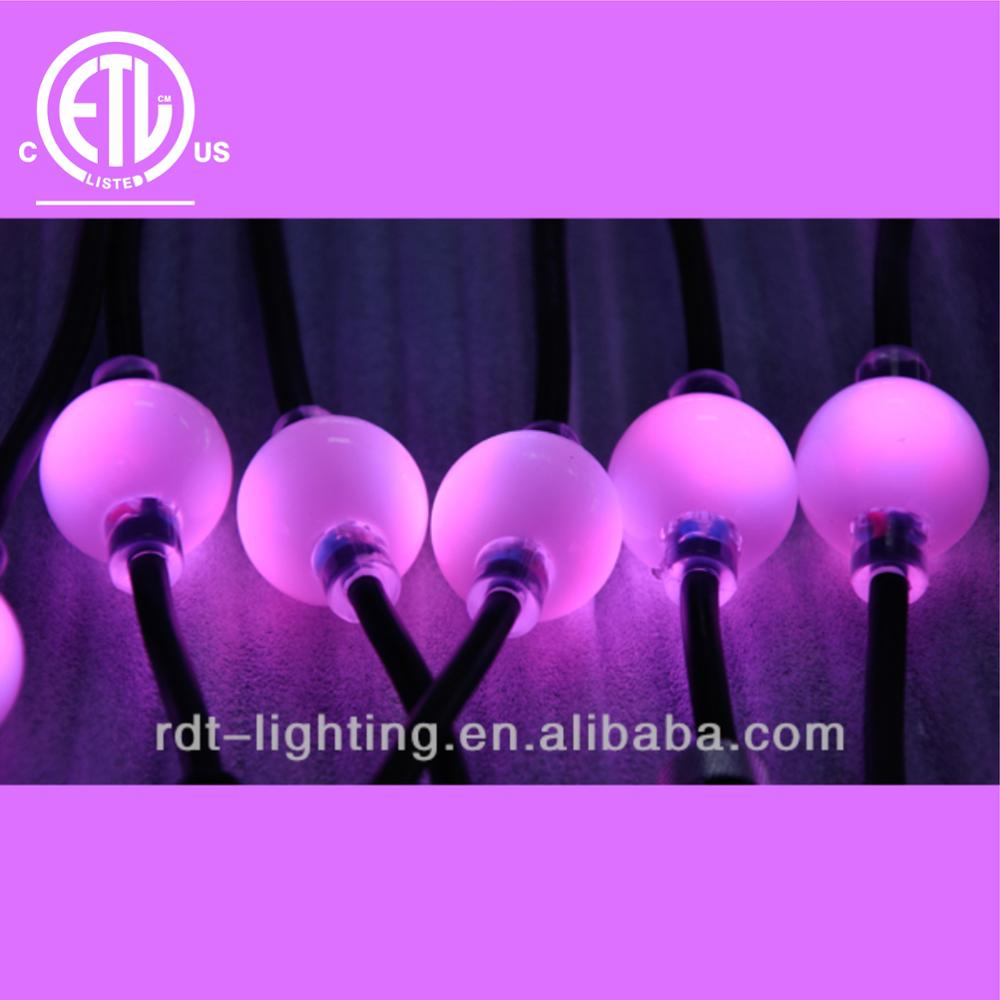 CE &UL Listed 3D Ball RGB LED Christmas String Light