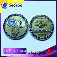 United States navy seals souvenir challenge coin with custom logo