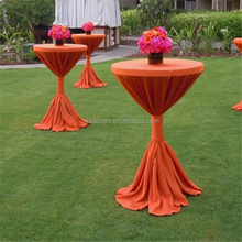 Hawaiian Paradise Use Orange Active Party Decoration Poly Fabric Cocktail Tablecloth