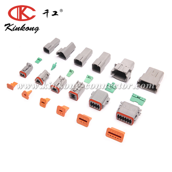 KINKONG Hot Sell DT06-2S/DT06-3S/DT06-4S/DT04-6P/DT04-8P/DT04-12P Female And Male DT Connector Kits With Wedge/DT Tool
