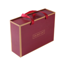 Slipcase Drawer Boxes With Handles Personalized Printed Colored Custom Logo Wine Gift Box Set Packaging