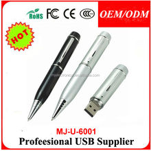 metal pen usb memory 2gb 4gb with logo , van truck pvc usb pen drive