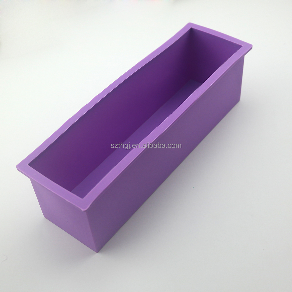 Rectangular big loaf soap mould silicone cake loaf mold with cavity 1200ml