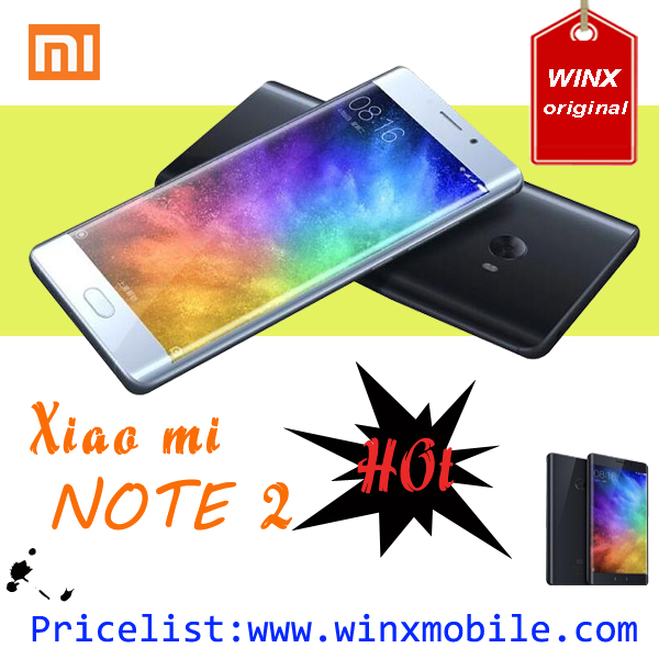 4 sim mobile phone Original 5.7 inch xiaomi note 2 mi mobile phone 64GB/128GB black/silver