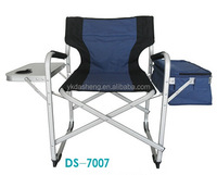 high quality aluminum folding director chair With Side Table