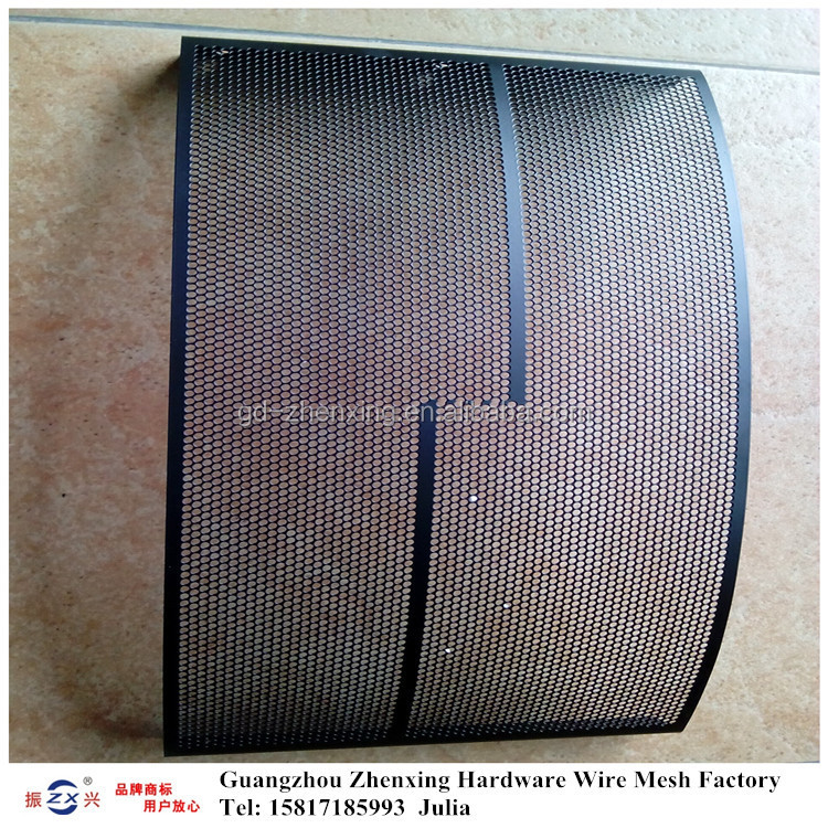 Guangzhou factory wholesale powder-coating perforated metal mesh speaker grille ZX-CKW32