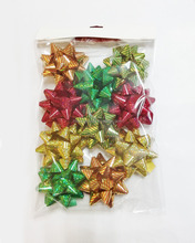 Christmas decoration indoor assorted color star bow