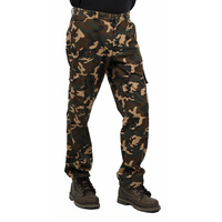 casual army camo mens cargo pants with side pockets