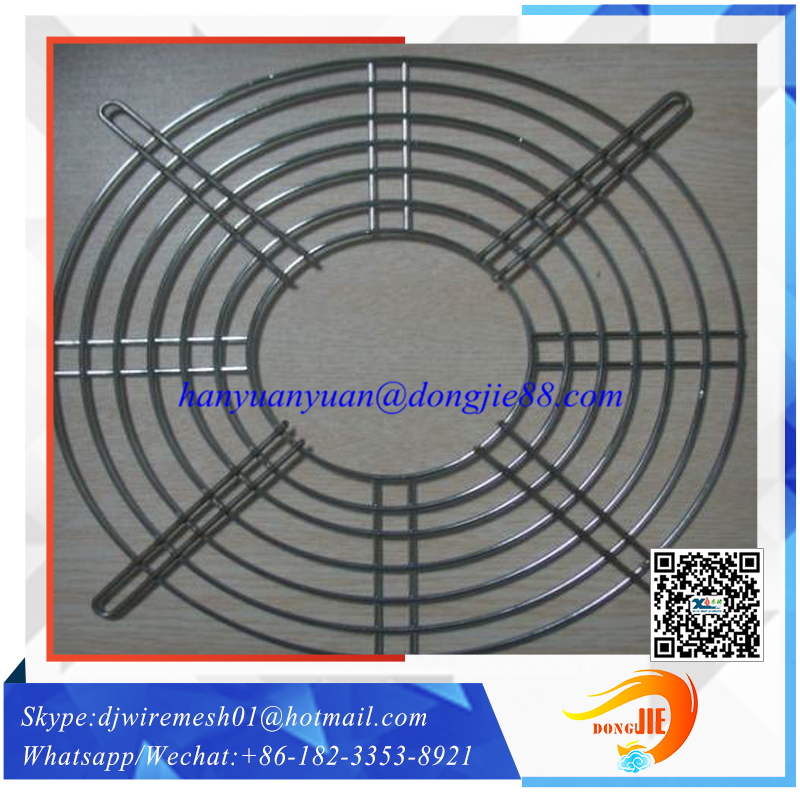 With free sample service stainless steel fan guard round wire grill