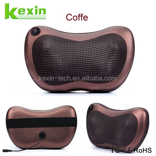 Great Gift Portable Neck and Back Kneading Massage Cushion USE in Office Home or Car