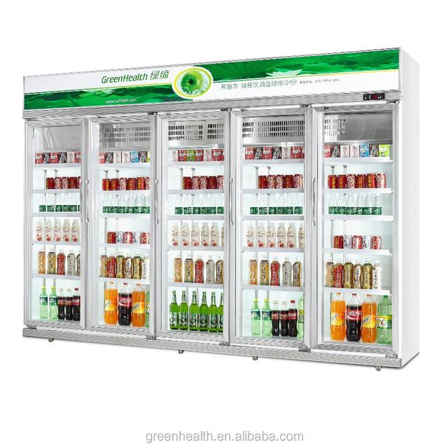 beverage refrigerator / Assembled freezer / chiller display cabinet for US standard