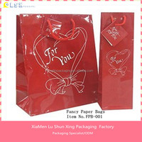 2015 Hot Customized Fancy Printed Christmas Paper gift Bag with handles