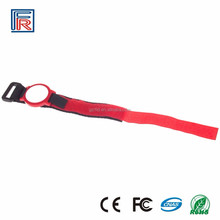 Adjustable Nylon Fabric Woven Belt RFID Wristband S50 Epoxy Pvc Card