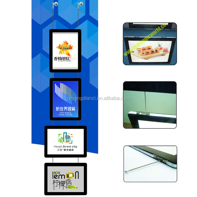 LED Lighted Display Window Advertising Plastic Sign Board