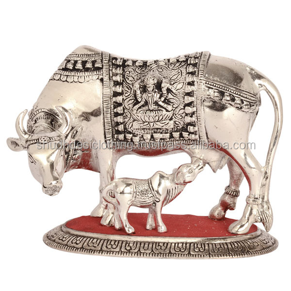 Exclusive Home Decorating Statue- Cow And Her Calf Metal Sculpture