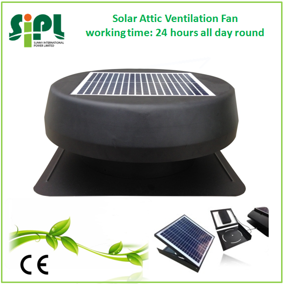 Solar vent 12 inch exhaust fan factory supply solar roof ventilation industrial axial fan