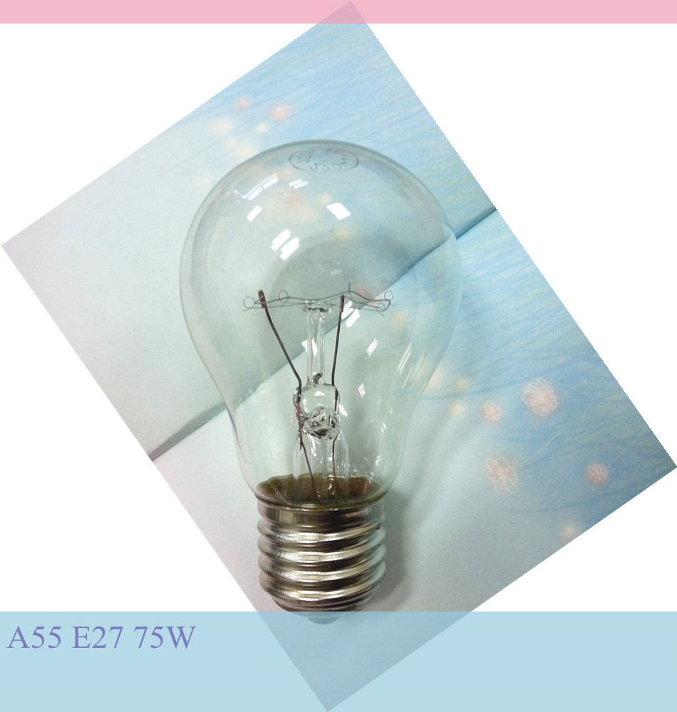 E27 75W clear incandescent lamp lower price