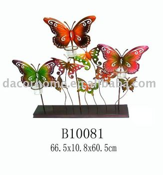 Metal Butterfly Tealight Candle Holder in the table top