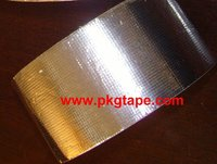 High temperature self adhesive backed aluminum foil + glass cloth tape 165mic 180mic