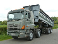 USED TRUCKS - 2007 HINO 700 3213 8X4 STEEL BODY TIPPER (RHD 2961)