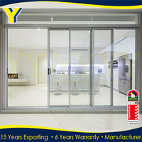 Double Glass Mosquito Screen Aluminium Doors Cheap 3 Panel Sliding Closet Doors
