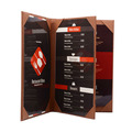 Popular hotel menu leather trifold restaurant menu case