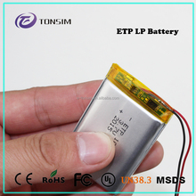 high quality 3.7V 1800mAh li ion nmc battery 103450 with un38.8