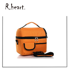 Lunch Bag Cooler Bag Insulated Tote Large Capacity Travel Lunch Bag Tote Orange