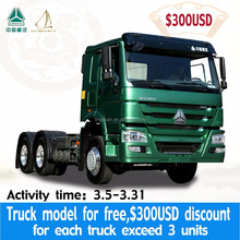 MARCH EXPO 10 Wheels HOWO 6*4 371HP/420HP Tractor truck/Prime mover for sale