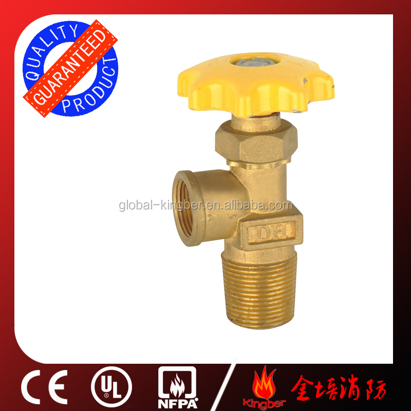 CE Approved Brass Body High Pressure Yellow Oxygen LPG <strong>Gas</strong> Cylinder Hand Wheel Valve For <strong>O2</strong>/N2/Air