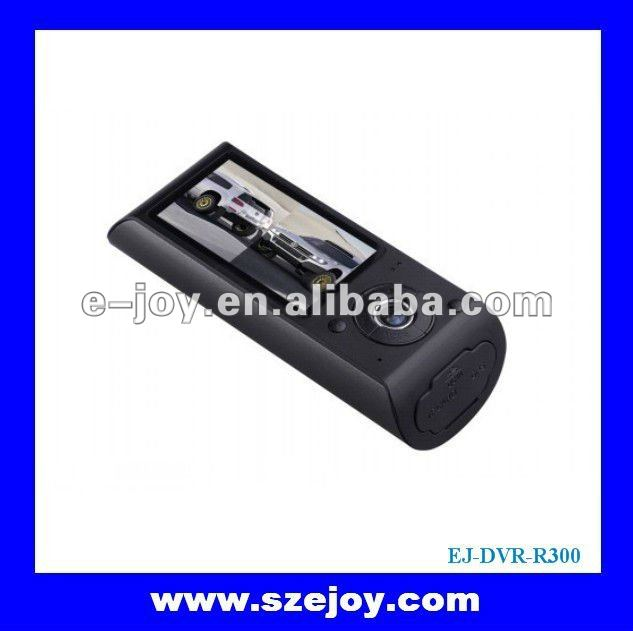 Multifunctional 2 Camera Car DVR/Black Box with GPS Module and G-Sensor R300