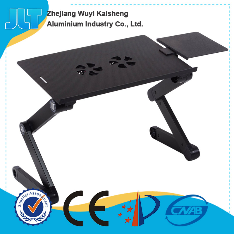 Portable standing writing laptop desk on the bed