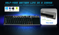 Querty Wireless Keyboard 2.4GHz English Air Mouse with Touchpad For Android TV Box Notebook Tablet Pc