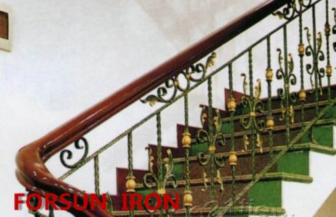 Hand made wrought iron staircase balustrade ( made to measure/per metre )
