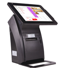 Retail store pos machine aluminum housing cash register with printer ZQ-P1088 mini from Zonerich
