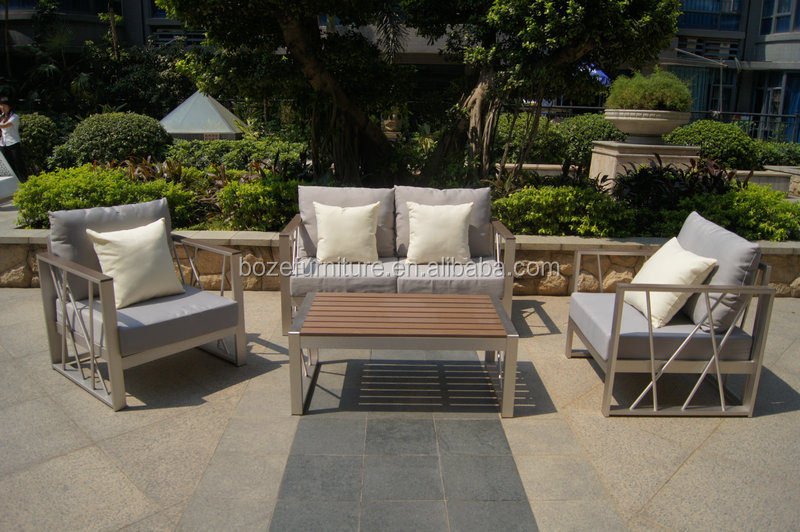 High quality brush kd structure sofa garden furniture set for Sofa exterior pvc