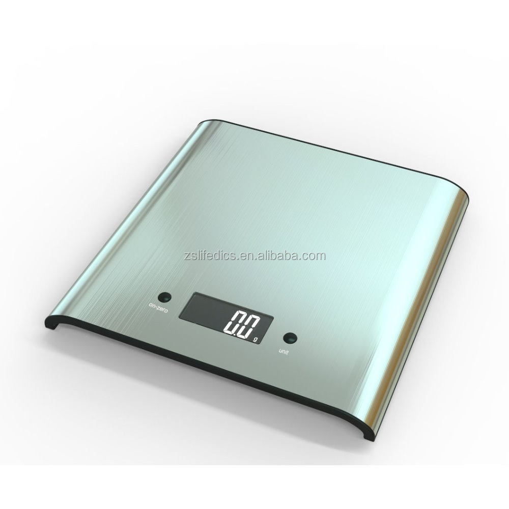 curve SS food and kitchen scale with CE, RoHS, LFGB approval 2 years warranty
