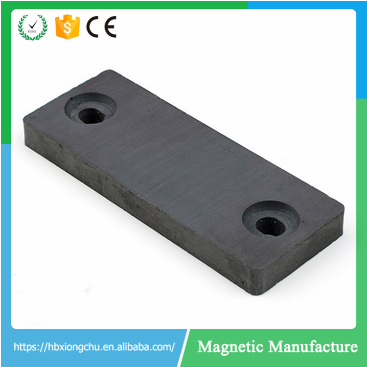 Square ferrite magents with screw hole for Speaker