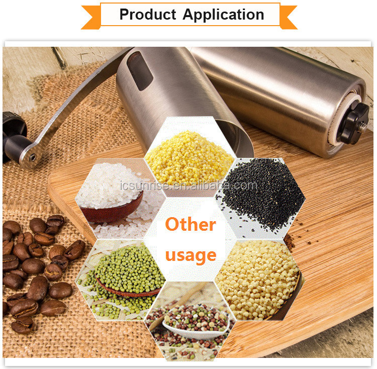 Manual coffee grinder for coffee mill and spice grinder